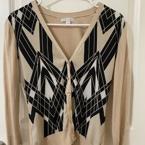 Beige Cardigan with design in the front
